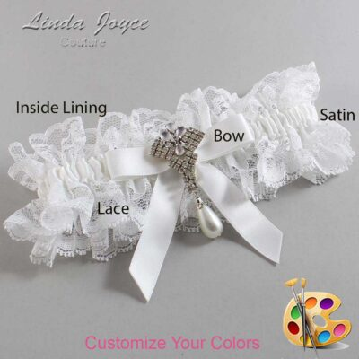 Couture Garters / Custom Wedding Garter / Customizable Wedding Garters / Personalized Wedding Garters / Bridget #11-B03-M33 / Wedding Garters / Bridal Garter / Prom Garter / Linda Joyce Couture