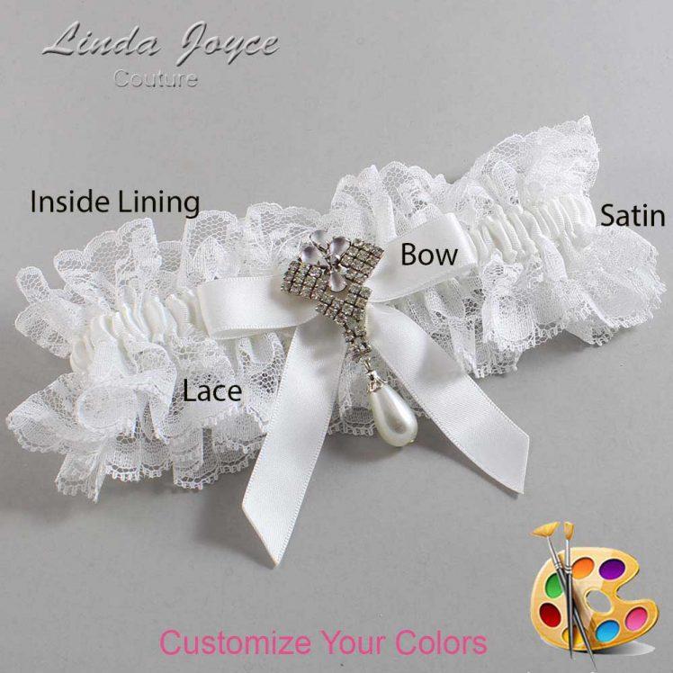 Couture Garters / Custom Wedding Garter / Customizable Wedding Garters / Personalized Wedding Garters / Bridget #11-B03-M33 / Wedding Garters / Bridal Garter / Prom Garter / Linda Joyce Couture