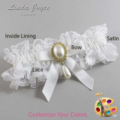 Couture Garters / Custom Wedding Garter / Customizable Wedding Garters / Personalized Wedding Garters / Demi #11-B03-M34 / Wedding Garters / Bridal Garter / Prom Garter / Linda Joyce Couture