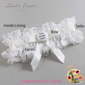 Couture Garters / Custom Wedding Garter / Customizable Wedding Garters / Personalized Wedding Garters / Custom Button #11-B03-M44 / Wedding Garters / Bridal Garter / Prom Garter / Linda Joyce Couture