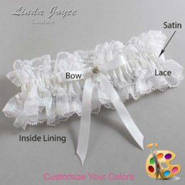 Customizable Wedding Garter / Bridie #11-B04-M03-Gold
