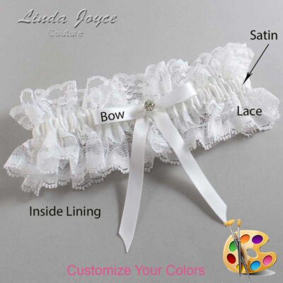 Couture Garters / Custom Wedding Garter / Customizable Wedding Garters / Personalized Wedding Garters / Bridie #11-B04-M04 / Wedding Garters / Bridal Garter / Prom Garter / Linda Joyce Couture