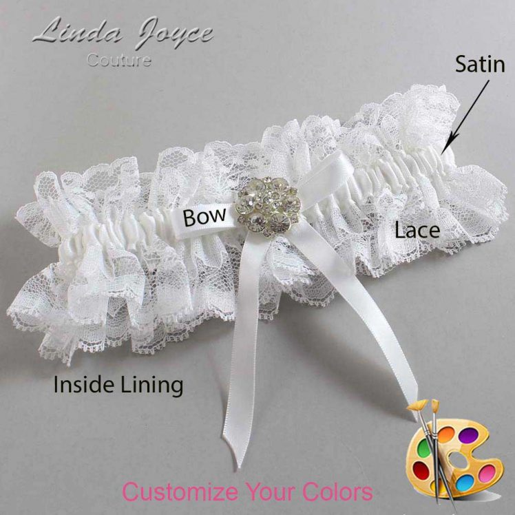 Couture Garters / Custom Wedding Garter / Customizable Wedding Garters / Personalized Wedding Garters / Buffy #11-B04-M11 / Wedding Garters / Bridal Garter / Prom Garter / Linda Joyce Couture