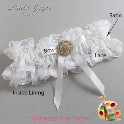 Couture Garters / Custom Wedding Garter / Customizable Wedding Garters / Personalized Wedding Garters / Candi #11-B04-M12 / Wedding Garters / Bridal Garter / Prom Garter / Linda Joyce Couture
