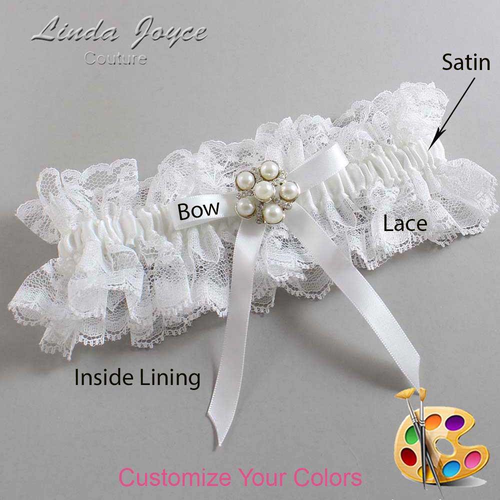 Customizable Wedding Garter / Carmen #11-B04-M13-Silver