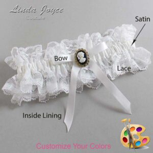 Couture Garters / Custom Wedding Garter / Customizable Wedding Garters / Personalized Wedding Garters / Chloe #11-B04-M15 / Wedding Garters / Bridal Garter / Prom Garter / Linda Joyce Couture
