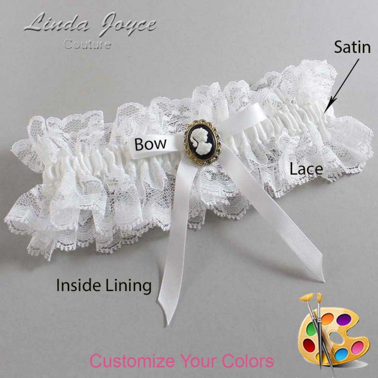 Couture Garters / Custom Wedding Garter / Customizable Wedding Garters / Personalized Wedding Garters / Chloe #11-B04-M15 / Wedding Garters / Bridal Garter / Prom Garter / Linda Joyce Couture