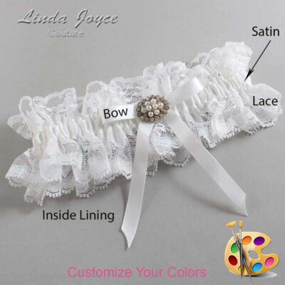 Couture Garters / Custom Wedding Garter / Customizable Wedding Garters / Personalized Wedding Garters / Christal #11-B04-M16 / Wedding Garters / Bridal Garter / Prom Garter / Linda Joyce Couture
