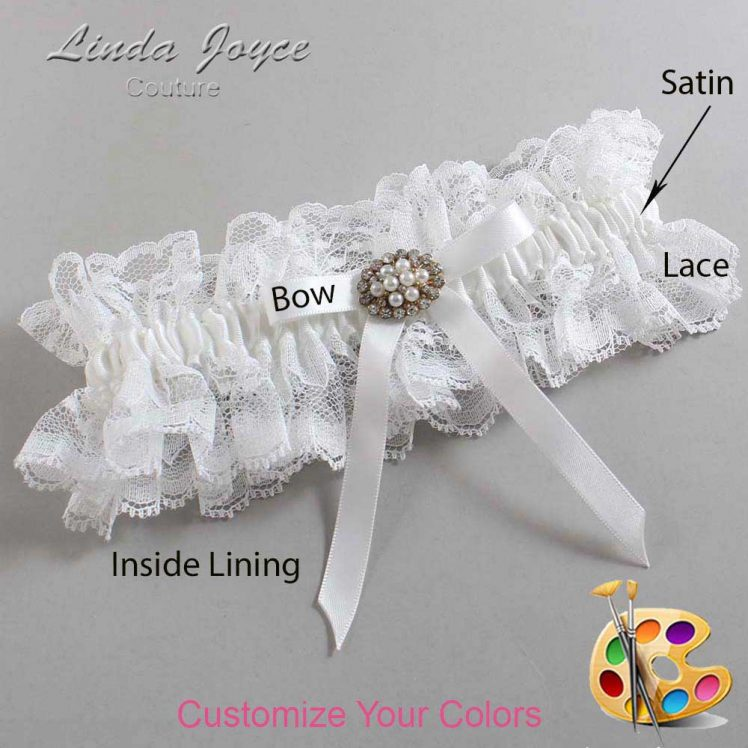 Couture Garters / Custom Wedding Garter / Customizable Wedding Garters / Personalized Wedding Garters / Christal #11-B04-M16 / Wedding Garters / Bridal Garter / Prom Garter / Linda Joyce Couture