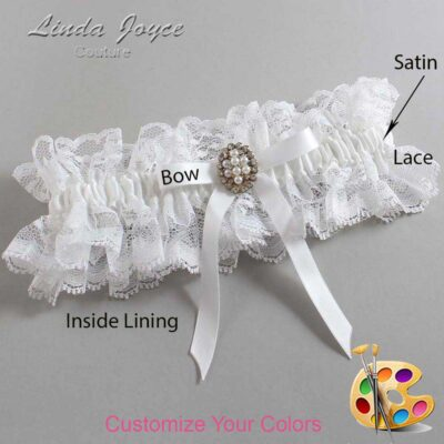 Couture Garters / Custom Wedding Garter / Customizable Wedding Garters / Personalized Wedding Garters / Christy #11-B04-M17 / Wedding Garters / Bridal Garter / Prom Garter / Linda Joyce Couture