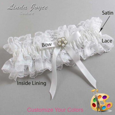 Couture Garters / Custom Wedding Garter / Customizable Wedding Garters / Personalized Wedding Garters / Cindi #11-B04-M20 / Wedding Garters / Bridal Garter / Prom Garter / Linda Joyce Couture