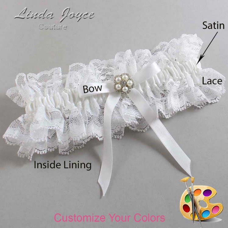 Couture Garters / Custom Wedding Garter / Customizable Wedding Garters / Personalized Wedding Garters / Cindi #11-B04-M20 / Wedding Garters / Bridal Garter / Prom Garter / Linda Joyce Couture