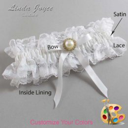 Customizable Wedding Garter / Dixie #11-B04-M21-Gold