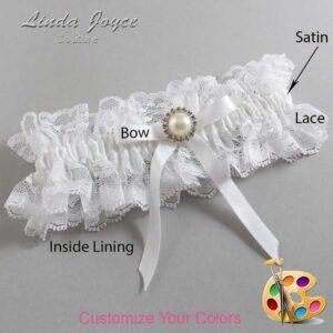 Couture Garters / Custom Wedding Garter / Customizable Wedding Garters / Personalized Wedding Garters / Dixie #11-B04-M22 / Wedding Garters / Bridal Garter / Prom Garter / Linda Joyce Couture