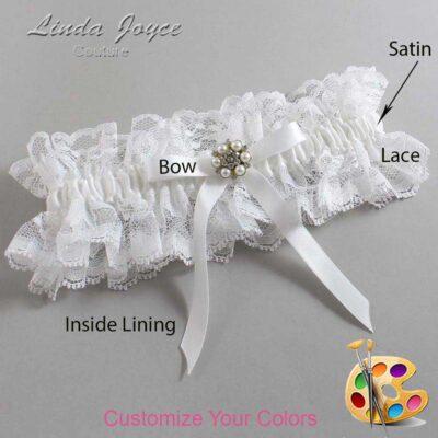 Couture Garters / Custom Wedding Garter / Customizable Wedding Garters / Personalized Wedding Garters / Donna #11-B04-M23 / Wedding Garters / Bridal Garter / Prom Garter / Linda Joyce Couture