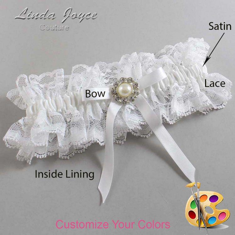 Couture Garters / Custom Wedding Garter / Customizable Wedding Garters / Personalized Wedding Garters / Diana #11-B04-M24 / Wedding Garters / Bridal Garter / Prom Garter / Linda Joyce Couture