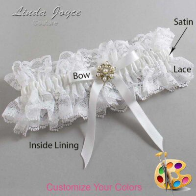 Couture Garters / Custom Wedding Garter / Customizable Wedding Garters / Personalized Wedding Garters / Dorinda #11-B04-M27 / Wedding Garters / Bridal Garter / Prom Garter / Linda Joyce Couture