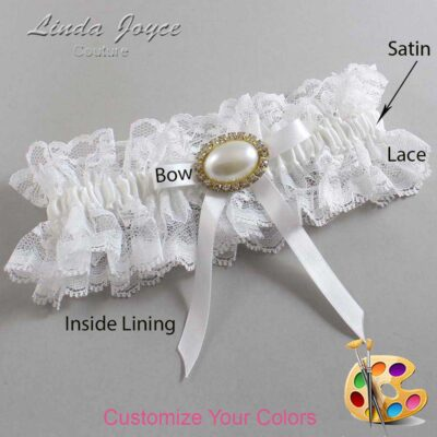 Couture Garters / Custom Wedding Garter / Customizable Wedding Garters / Personalized Wedding Garters / Eliza #11-B04-M28 / Wedding Garters / Bridal Garter / Prom Garter / Linda Joyce Couture