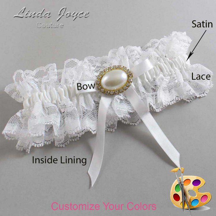 Couture Garters / Custom Wedding Garter / Customizable Wedding Garters / Personalized Wedding Garters / Eliza #11-B04-M28 / Wedding Garters / Bridal Garter / Prom Garter / Linda Joyce Couture