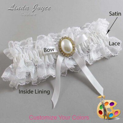 Couture Garters / Custom Wedding Garter / Customizable Wedding Garters / Personalized Wedding Garters / Erin #11-B04-M29 / Wedding Garters / Bridal Garter / Prom Garter / Linda Joyce Couture