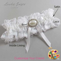 Customizable Wedding Garter / Eliza #11-B04-M30-Silver