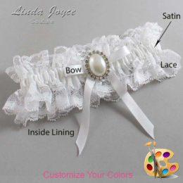 Customizable Wedding Garter / Erin #11-B04-M31-Silver