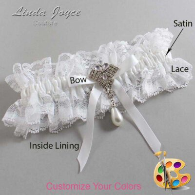 Couture Garters / Custom Wedding Garter / Customizable Wedding Garters / Personalized Wedding Garters / Estelle #11-B04-M33 / Wedding Garters / Bridal Garter / Prom Garter / Linda Joyce Couture
