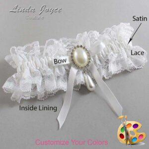 Couture Garters / Custom Wedding Garter / Customizable Wedding Garters / Personalized Wedding Garters / Eunice #11-B04-M35 / Wedding Garters / Bridal Garter / Prom Garter / Linda Joyce Couture