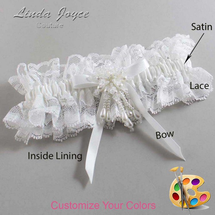Couture Garters / Custom Wedding Garter / Customizable Wedding Garters / Personalized Wedding Garters / Desiree #11-B04-M38 / Wedding Garters / Bridal Garter / Prom Garter / Linda Joyce Couture