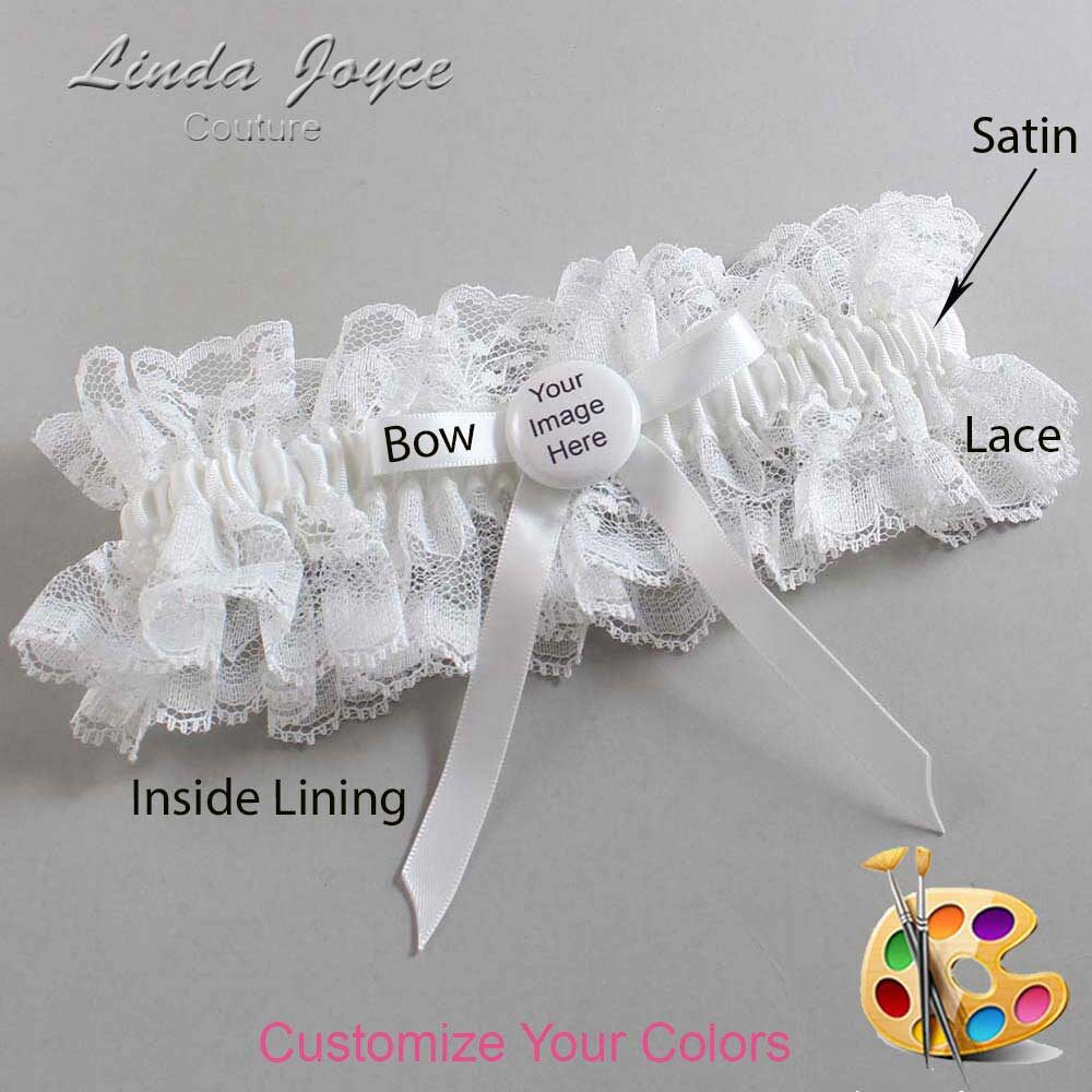 Customizable Wedding Garter / US-Military Custom Button #11-B04-M44