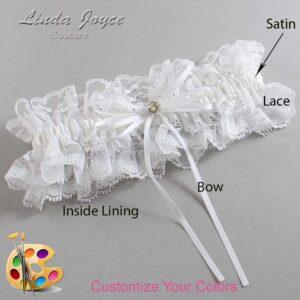 Couture Garters / Custom Wedding Garter / Customizable Wedding Garters / Personalized Wedding Garters / Loise #11-B10-M03 / Wedding Garters / Bridal Garter / Prom Garter / Linda Joyce Couture