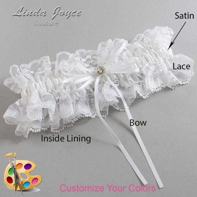 Couture Garters / Custom Wedding Garter / Customizable Wedding Garters / Personalized Wedding Garters / Loise #11-B10-M03 / Wedding Garters / Bridal Garter / Prom Garter / Linda Joyce Couture