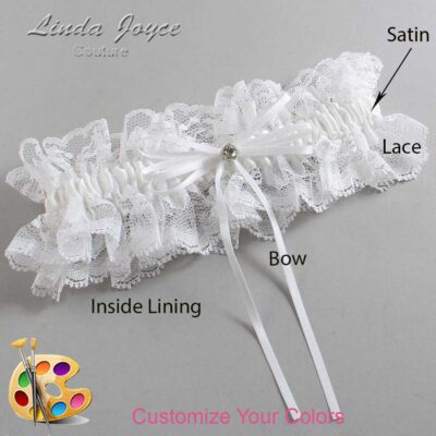 Couture Garters / Custom Wedding Garter / Customizable Wedding Garters / Personalized Wedding Garters / Loise #11-B10-M04 / Wedding Garters / Bridal Garter / Prom Garter / Linda Joyce Couture