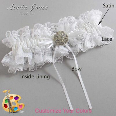 Couture Garters / Custom Wedding Garter / Customizable Wedding Garters / Personalized Wedding Garters / Amber #11-B10-M11 / Wedding Garters / Bridal Garter / Prom Garter / Linda Joyce Couture