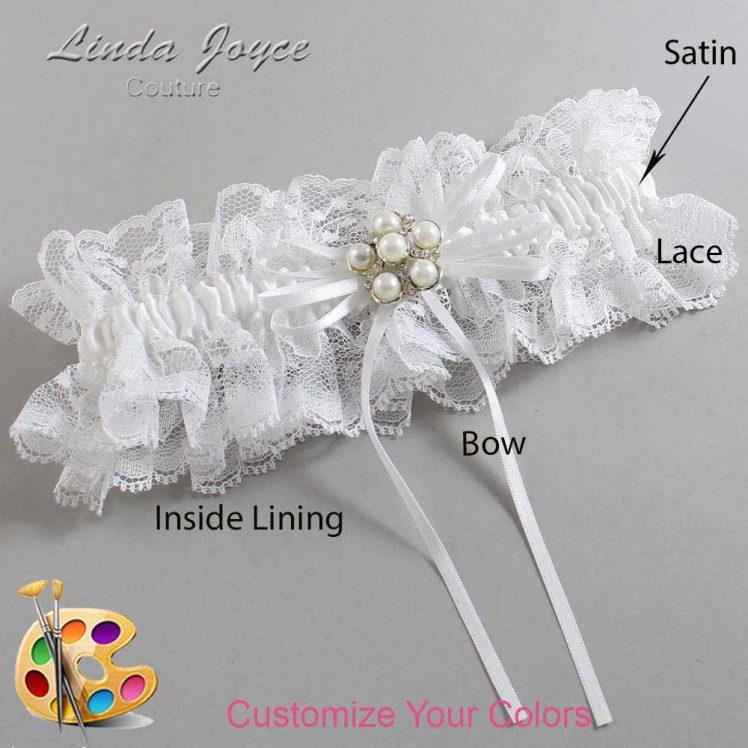 Couture Garters / Custom Wedding Garter / Customizable Wedding Garters / Personalized Wedding Garters / Darci #11-B10-M13 / Wedding Garters / Bridal Garter / Prom Garter / Linda Joyce Couture
