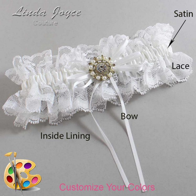 Couture Garters / Custom Wedding Garter / Customizable Wedding Garters / Personalized Wedding Garters / Dawn #11-B10-M14 / Wedding Garters / Bridal Garter / Prom Garter / Linda Joyce Couture