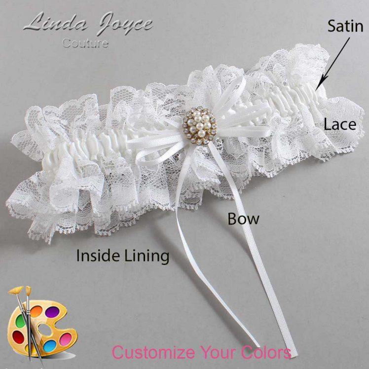 Couture Garters / Custom Wedding Garter / Customizable Wedding Garters / Personalized Wedding Garters / Gwen #11-B10-M17 / Wedding Garters / Bridal Garter / Prom Garter / Linda Joyce Couture