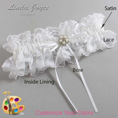 Couture Garters / Custom Wedding Garter / Customizable Wedding Garters / Personalized Wedding Garters / Gail #11-B10-M20 / Wedding Garters / Bridal Garter / Prom Garter / Linda Joyce Couture