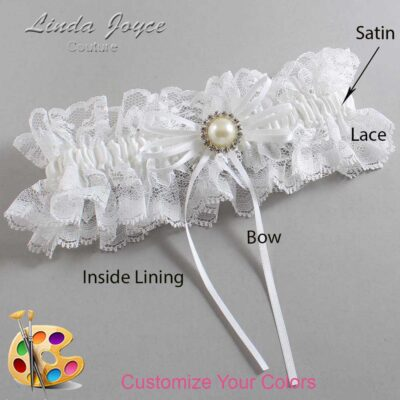 Couture Garters / Custom Wedding Garter / Customizable Wedding Garters / Personalized Wedding Garters / Faith #11-B10-M22 / Wedding Garters / Bridal Garter / Prom Garter / Linda Joyce Couture