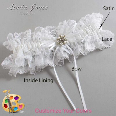 Couture Garters / Custom Wedding Garter / Customizable Wedding Garters / Personalized Wedding Garters / Ellen #11-B10-M23 / Wedding Garters / Bridal Garter / Prom Garter / Linda Joyce Couture