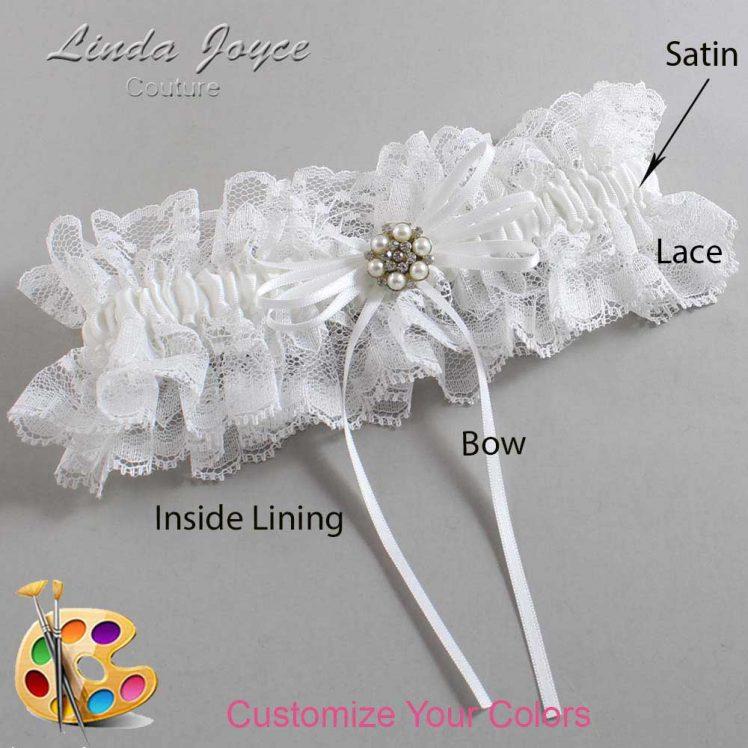 Couture Garters / Custom Wedding Garter / Customizable Wedding Garters / Personalized Wedding Garters / Ellen #11-B10-M23 / Wedding Garters / Bridal Garter / Prom Garter / Linda Joyce Couture