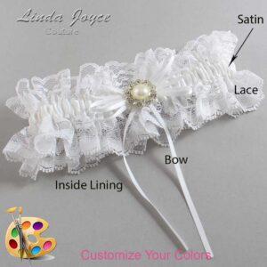 Couture Garters / Custom Wedding Garter / Customizable Wedding Garters / Personalized Wedding Garters / Irene #11-B10-M24 / Wedding Garters / Bridal Garter / Prom Garter / Linda Joyce Couture