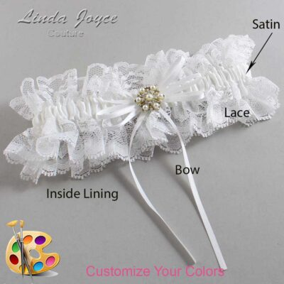 Couture Garters / Custom Wedding Garter / Customizable Wedding Garters / Personalized Wedding Garters / Helen #11-B10-M27 / Wedding Garters / Bridal Garter / Prom Garter / Linda Joyce Couture