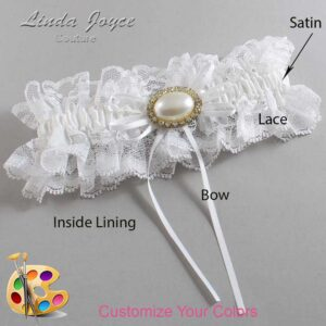 Couture Garters / Custom Wedding Garter / Customizable Wedding Garters / Personalized Wedding Garters / Jacque #11-B10-M28 / Wedding Garters / Bridal Garter / Prom Garter / Linda Joyce Couture