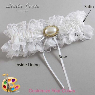Couture Garters / Custom Wedding Garter / Customizable Wedding Garters / Personalized Wedding Garters / Jacque #11-B10-M28 / Wedding Garters / Bridal Garter / Prom Garter / Linda Joyce Couture