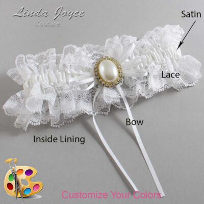 Couture Garters / Custom Wedding Garter / Customizable Wedding Garters / Personalized Wedding Garters / Evonne #11-B10-M29 / Wedding Garters / Bridal Garter / Prom Garter / Linda Joyce Couture