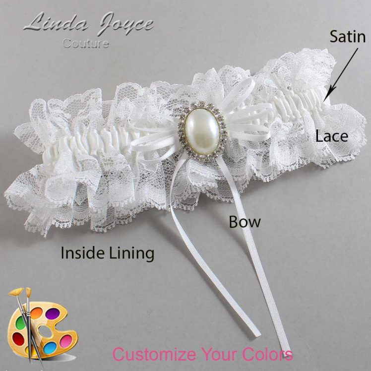 Couture Garters / Custom Wedding Garter / Customizable Wedding Garters / Personalized Wedding Garters / Evonne #11-B10-M31 / Wedding Garters / Bridal Garter / Prom Garter / Linda Joyce Couture