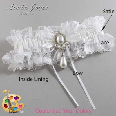 Couture Garters / Custom Wedding Garter / Customizable Wedding Garters / Personalized Wedding Garters / JoAnn #11-B10-M32 / Wedding Garters / Bridal Garter / Prom Garter / Linda Joyce Couture
