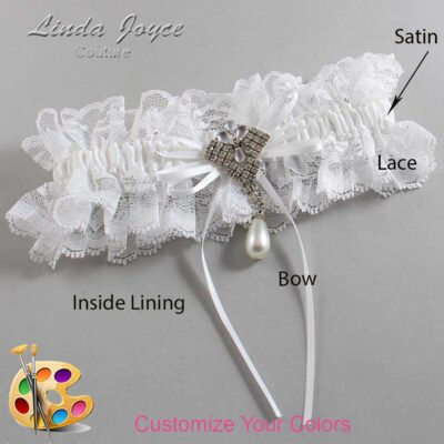 Couture Garters / Custom Wedding Garter / Customizable Wedding Garters / Personalized Wedding Garters / Kelly #11-B10-M33 / Wedding Garters / Bridal Garter / Prom Garter / Linda Joyce Couture