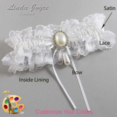 Couture Garters / Custom Wedding Garter / Customizable Wedding Garters / Personalized Wedding Garters / Andrea #11-B10-M35 / Wedding Garters / Bridal Garter / Prom Garter / Linda Joyce Couture